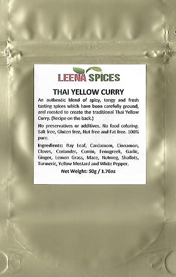 Amazon.com : LEENA SPICES - Thai Yellow Seasoning Curry Powder ...