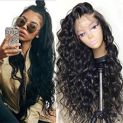 Fureya Hair - Peluca de encaje frontal sin pegamento, natural ...