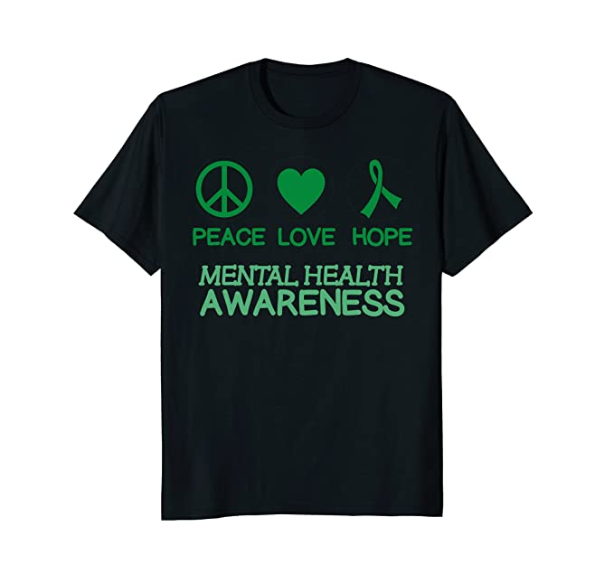 Amazon Mental Health Awareness Ribbon Support Peace Love Hope