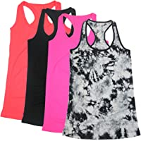 33f4b3e87ffd0 BollyQueena Women s Workout Tanks Round Neck Racerback Tank Tops 1