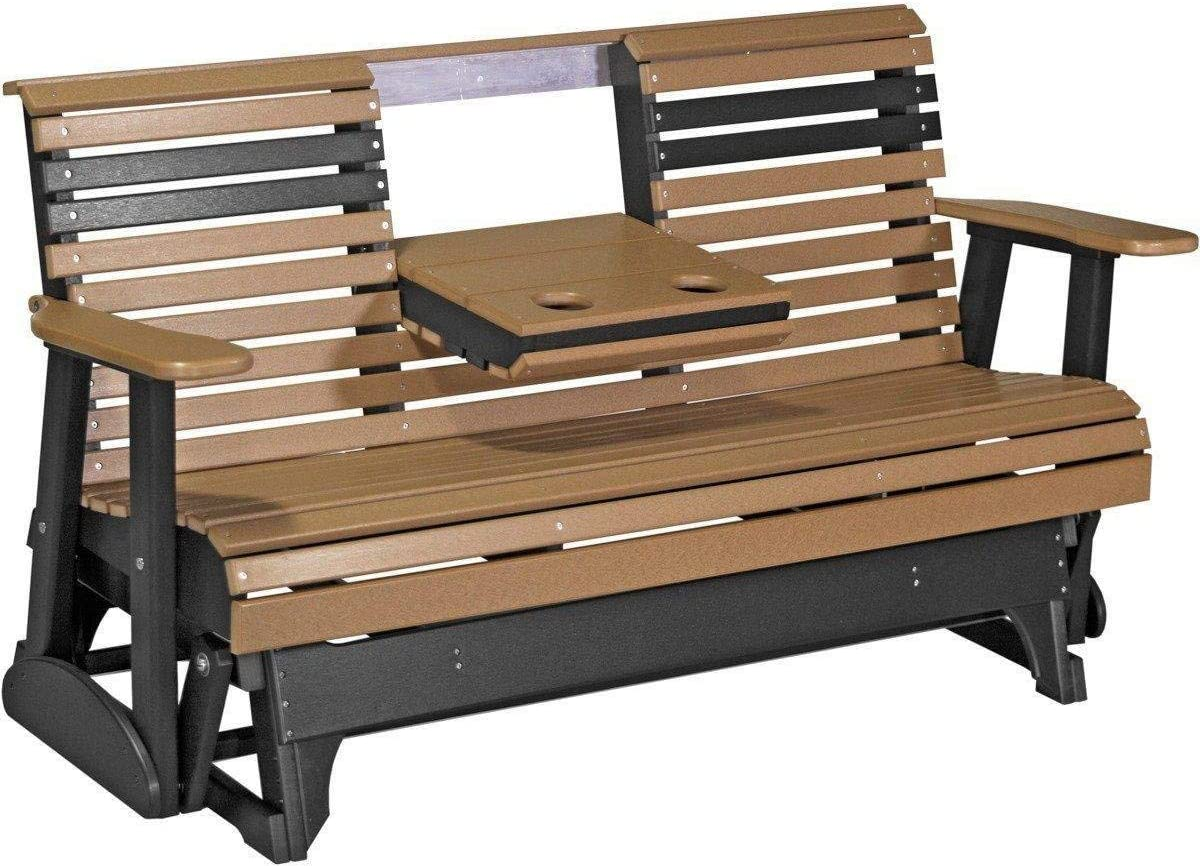 LuxCraft Rollback Recycled Plastic 5ft. Patio Glider