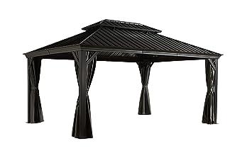 Pavillon d\'été en aluminium Gazebo Messina - 12 x 16 / 363 x 483 cm ...