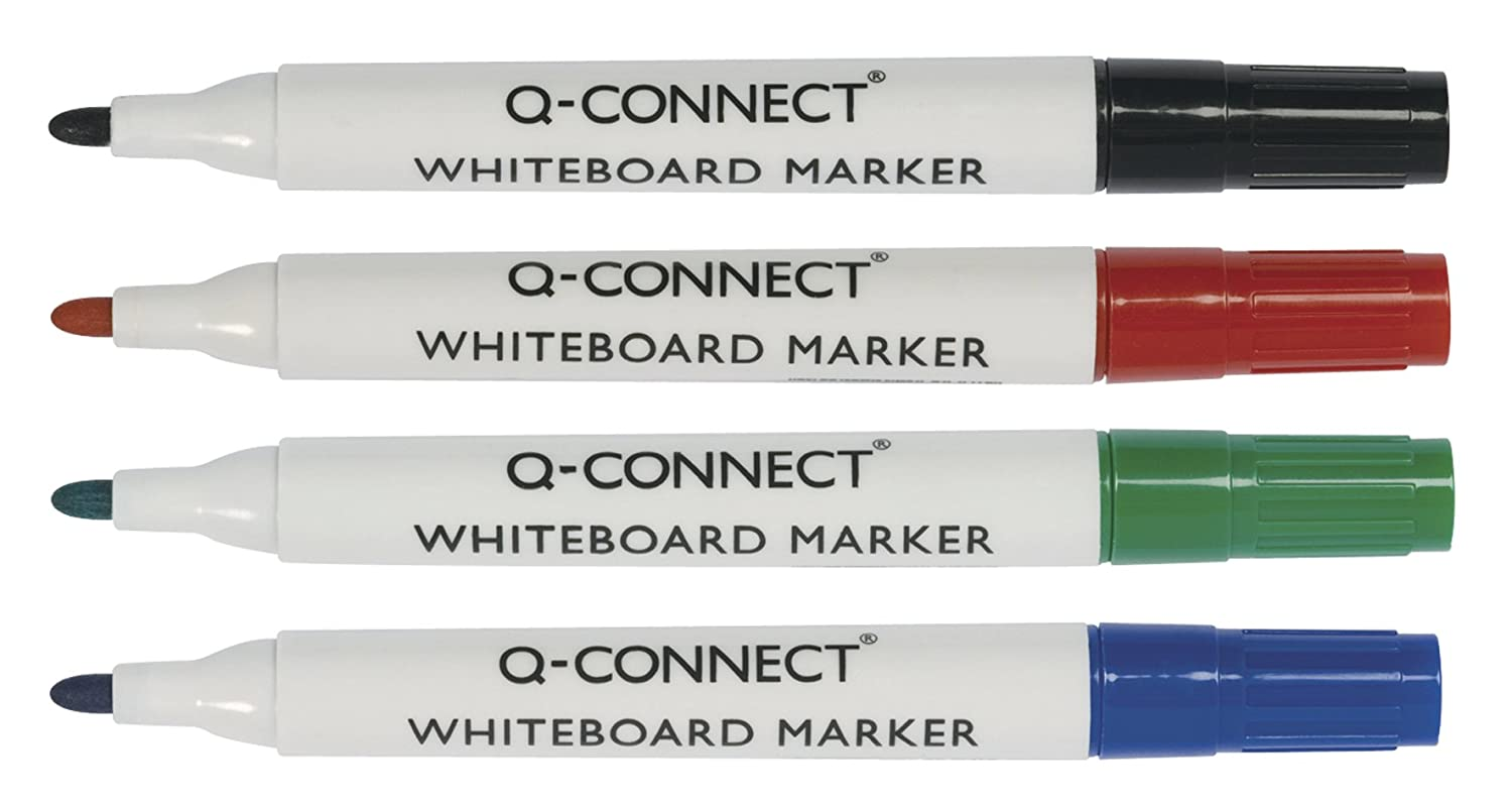 Q Connect White Board Markers Asst Pk4