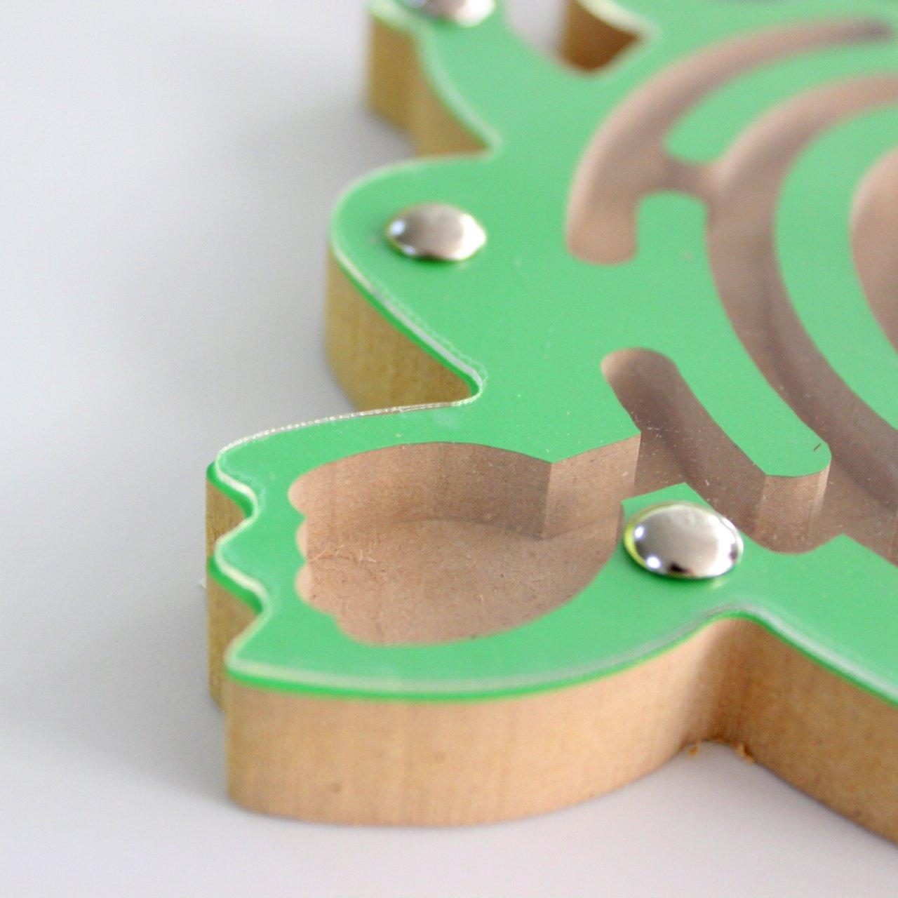 Frosch HappyToy Tier Mini Wooden Runde Magnetische Wand Nummer Maze Interaktive Labyrinth Magnet Perlen Labyrinth auf Brettspiel Stadt Verkehr Eduactional Handcraft Toys