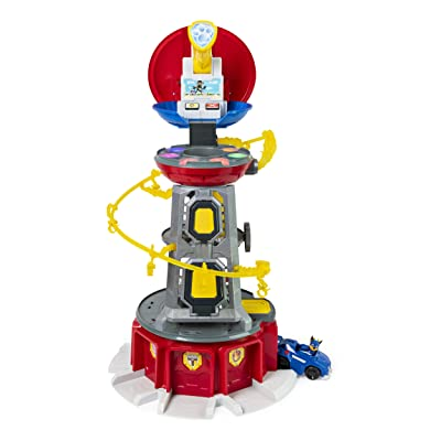 Paw Patrol, Mighty Pups Super Paws Lookout Tower Playset with Lights & Sounds, for Ages 3 & Up, Multicolor: Toys & Games