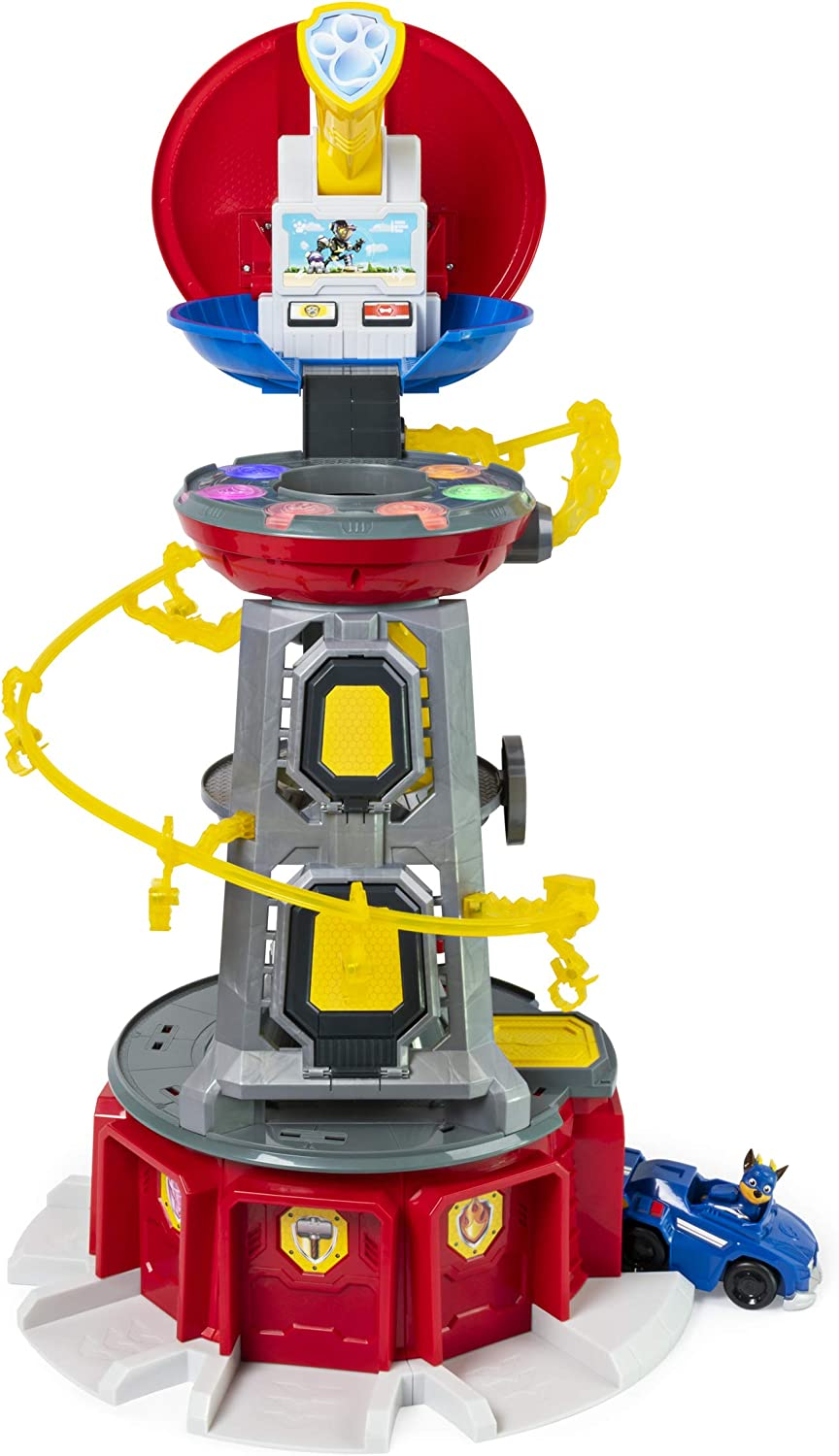 Nickelodeon Paw Patrol, Mighty Pups Super Paws Lookout Tower Playset with Lights & Sounds, for Ages 3 & Up, Multicolor