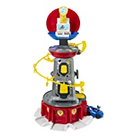 Paw Patrol, Mighty Pups Super Paws Lookout Tower Playset with Lights & Sounds, for...