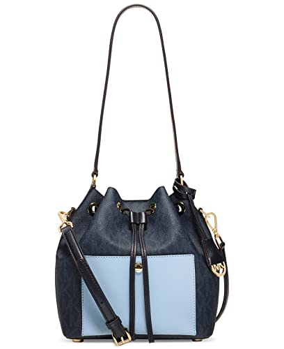 13d0d5936b3043 MICHAEL Michael Kors Greenwich Medium Bucket Bag (Baltic Blue/Light Sky)
