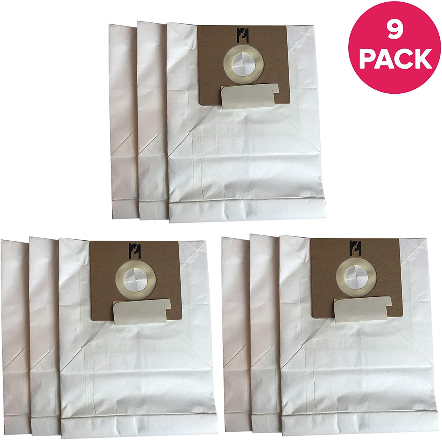 Crucial Vacuum Replacement Type B Cloth Vac Bags Part # 85003, 24196, 634875 115.2496210 - Compatible with Kenmore Bag and Oreck Canister Vacuums - Compact, Disposable Style for Vacuums (9 Pack)