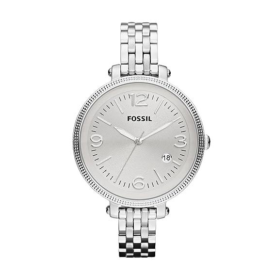 Fossil ES3129 - Reloj de Cuarzo para Mujer, Correa de Acero Inoxidable Color Plateado: Fossil: Amazon.es: Relojes