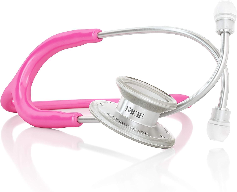 MDF® MD One® Premium Estetoscopio doble cabeza de acero inoxidable - Garantía de por vida & Programa-piezas-gratuitas-de-por-vida - Fucsia (MDF777-32)