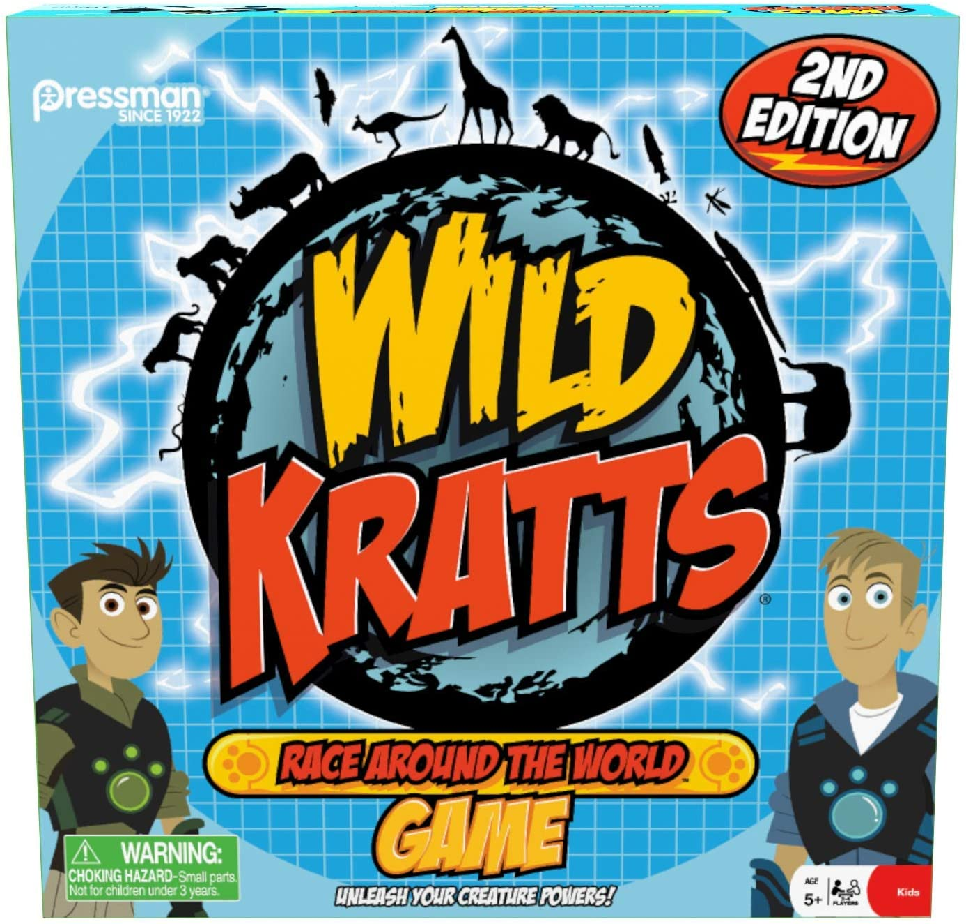 Pressman Wild Kratts Race Around the World Board Game Multicolor, 5