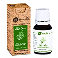 Naturalis Essence of Nature Tea Tree Essential Oil, for Acne, Pimples, Scars, Skin, Face, Hair care & Anti-Dandruff - 10ml