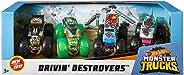 Hot Wheels Monster Trucks 1: 64, 4 Pack Vehicles (Styles May Vary)