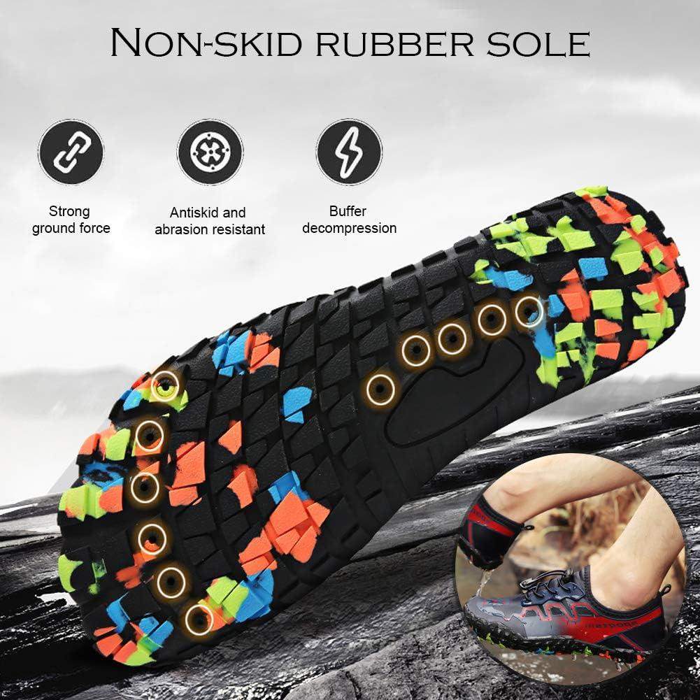QIMAOO Chaussures de Plage Sport Chaussures Aquatiques Homme Femme Chaussures de Yoga de Bain Chaussures de Plage deau Plong/ée Surf Piscine