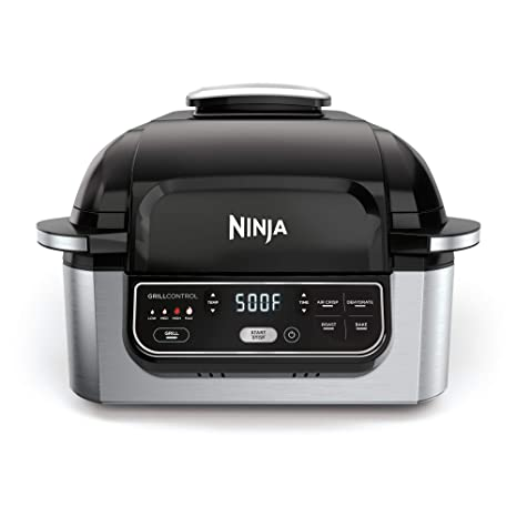 Best Indoor Grill 2020.Ninja Foodi 5 In 1 4 Qt Air Fryer Roast Bake Dehydrate Indoor Electric Grill Ag301 10 X 10 Black And Silver