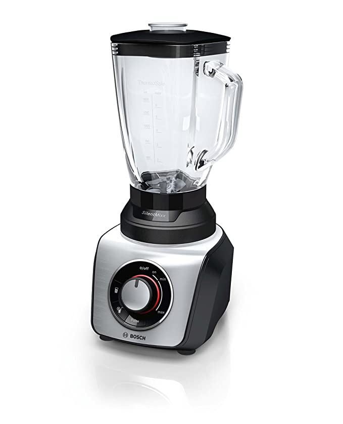 Bosch SilentMixx MMB65G5M - Batidora de vaso, 800W, 2.3 litros, color negro