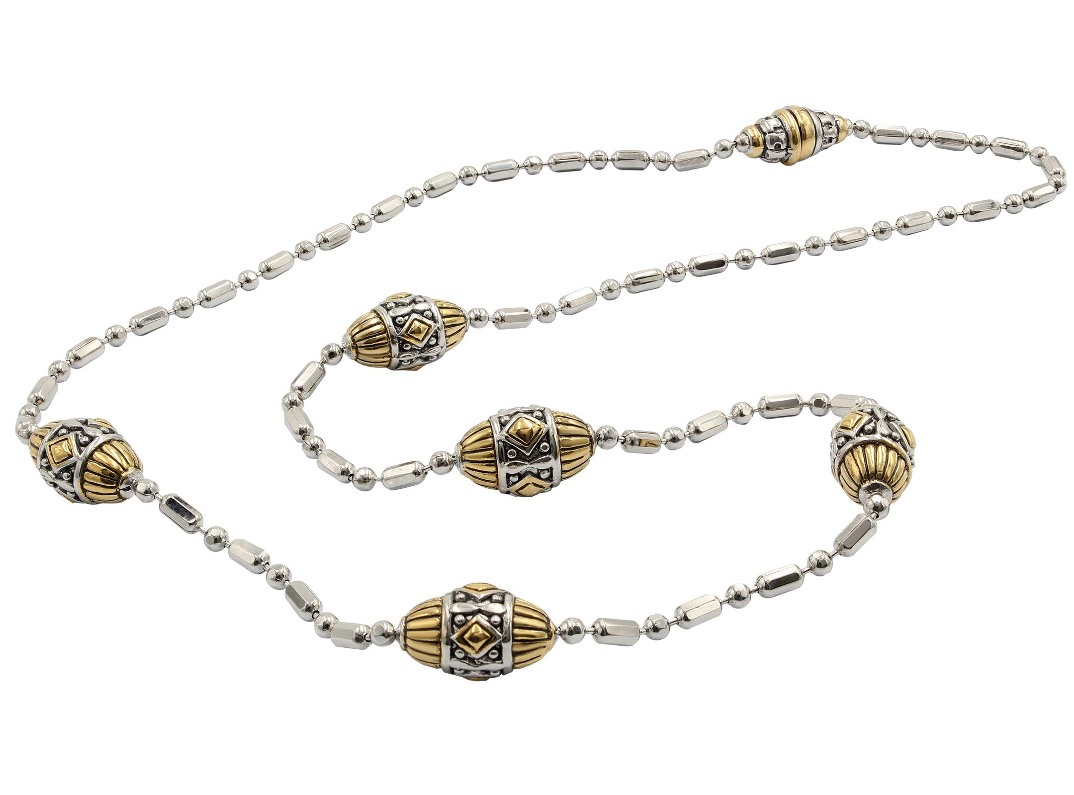 John Medeiros Gold and Silver Tone Long Strand 38'' Necklace with Handcrafted Charms Made in America by John Medeiros (Image #3)