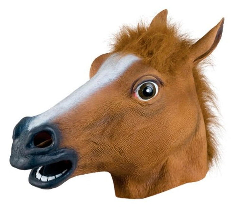 Amazon.com: Kingmys KINGMYS Latex Horse Head Mask (Brown Horse ...