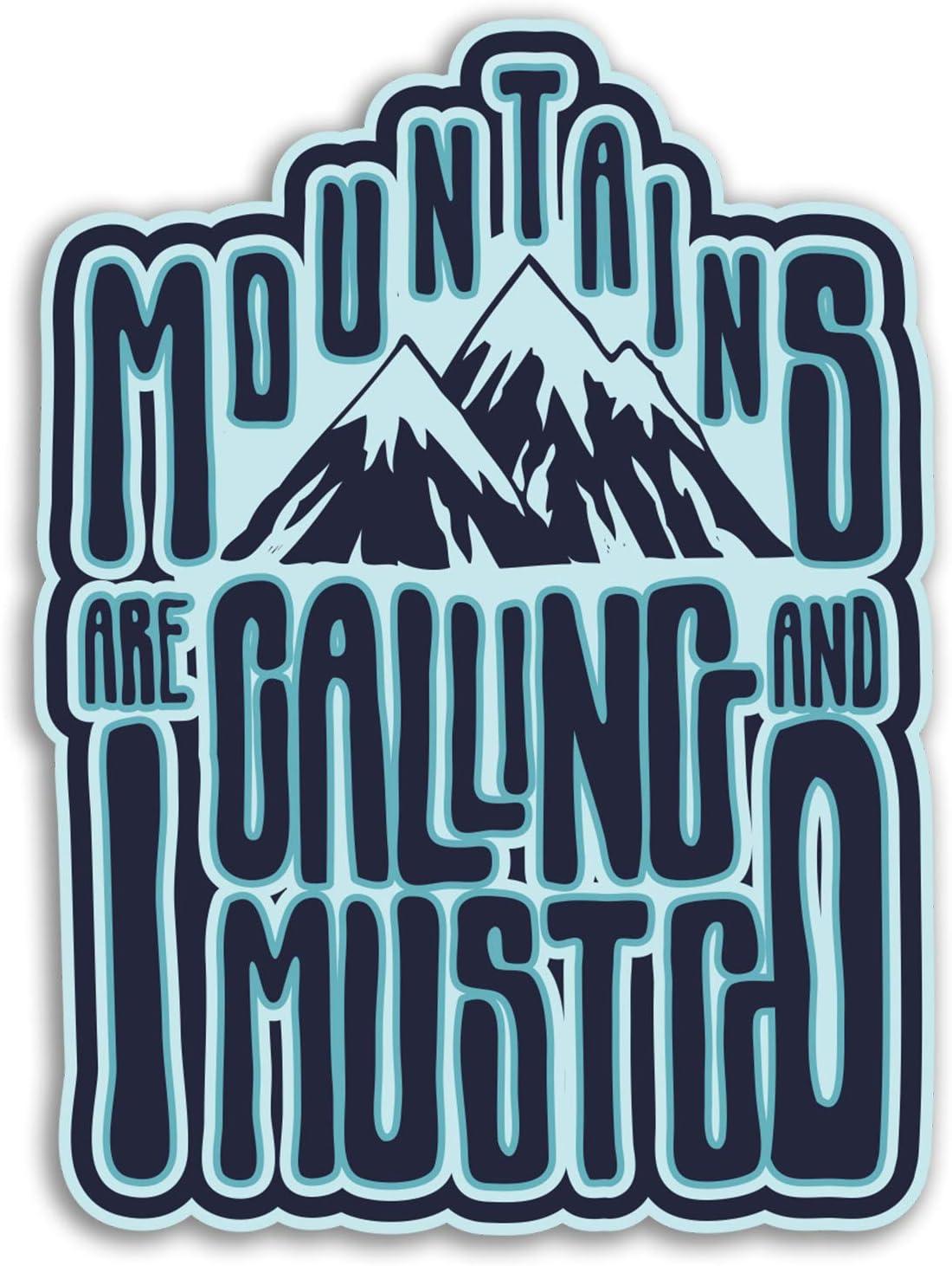 del viaje del equipaje # 19248 2 x 10cm monta/ñas de esqu/í snowboard pegatinas de vinilo 10 cm de altura