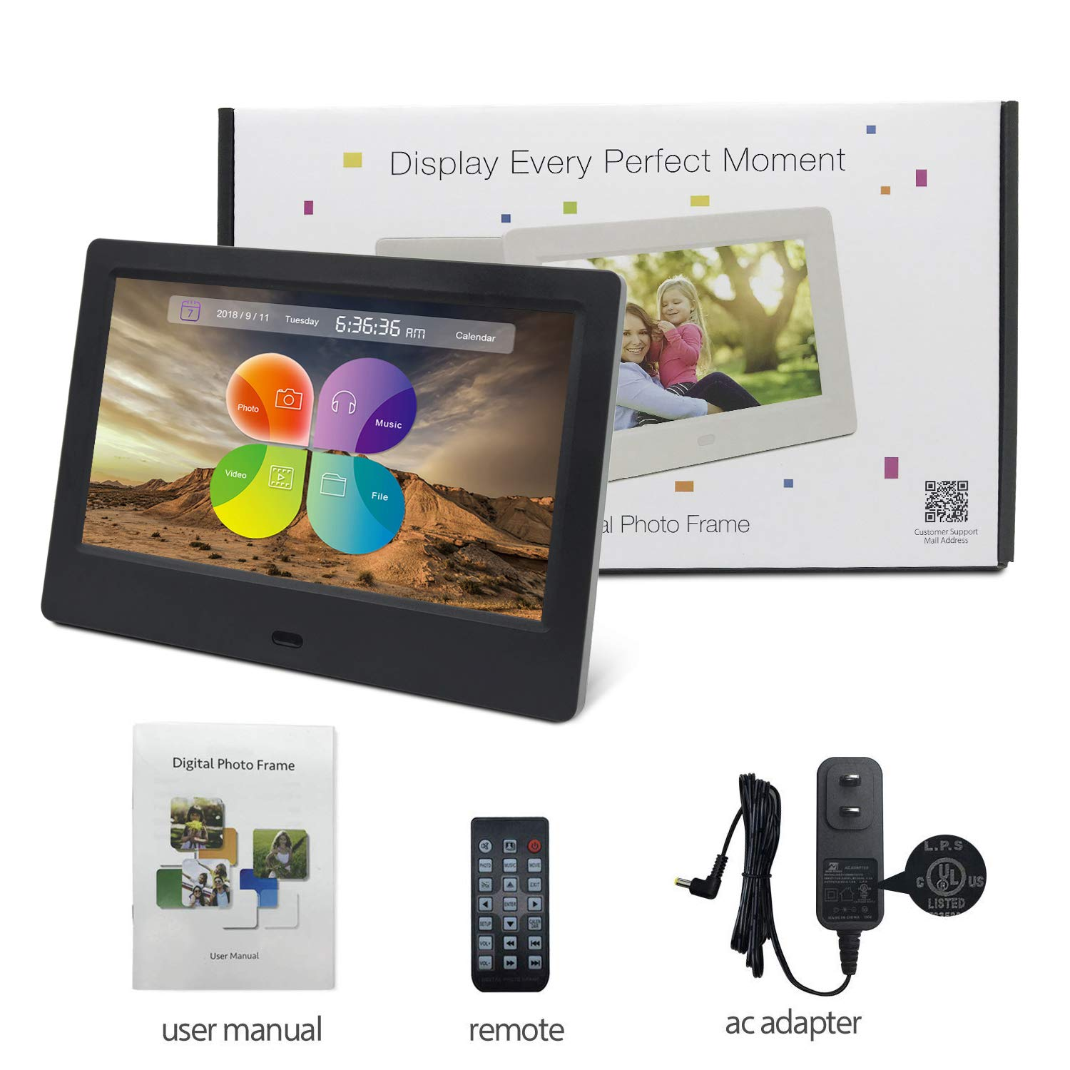 YENOCK Digital Picture Frame, 15.4 Inch 1280 x 800 High Resolution ...