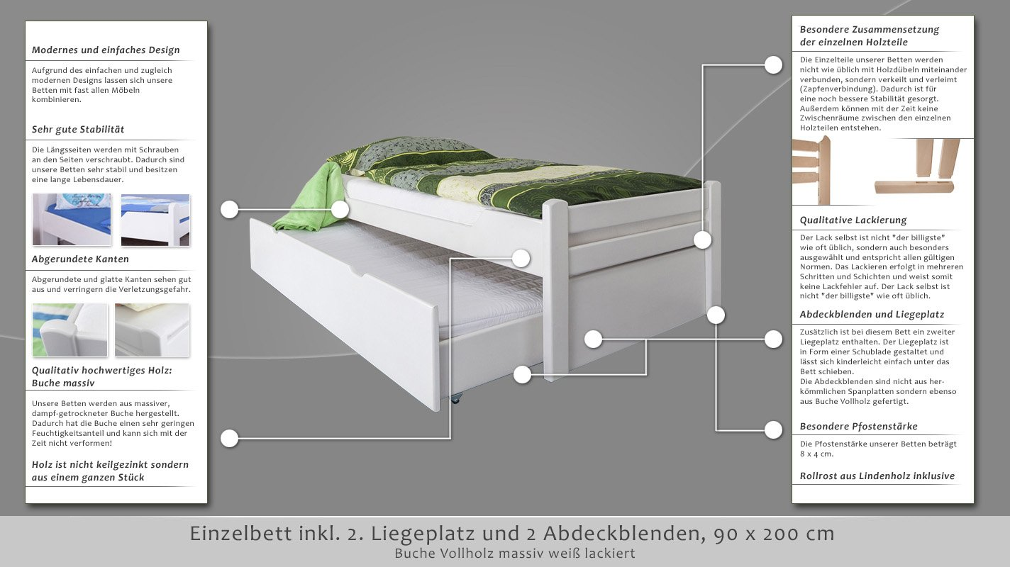 babybett 120x60 cm kinderbett lasse weiss mit. Black Bedroom Furniture Sets. Home Design Ideas