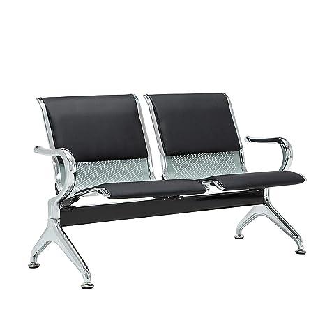 Amazon.com: Silla de espera, 2 asientos, color azul, banco ...