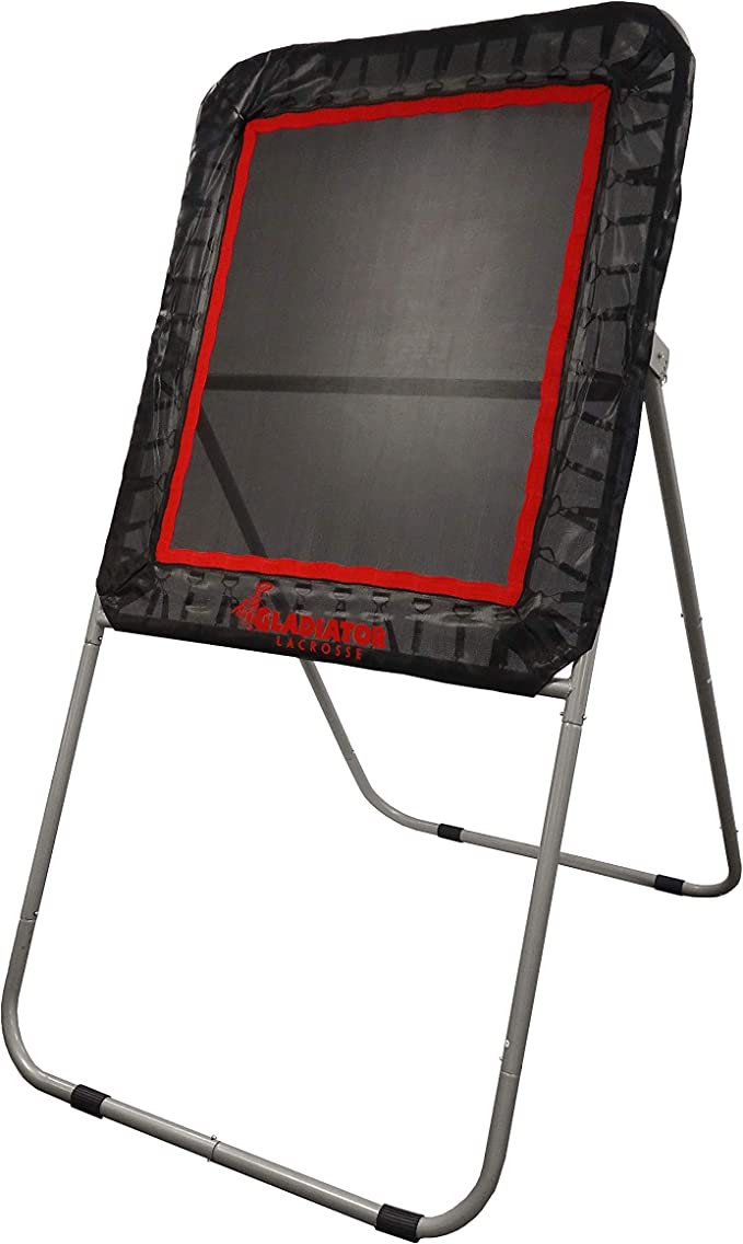 Gladiator Lacrosse Professional Bounce Pitch Back/Rebounder – Lacrosse Rebounder for Small Spaces