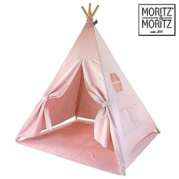 Bunt F/ür Haus und Garten Moritz /& Moritz Tipi Zelt f/ür Kinder Kinderzelt Spielzelt Geschenkidee Mit Bodendecke und Fenster