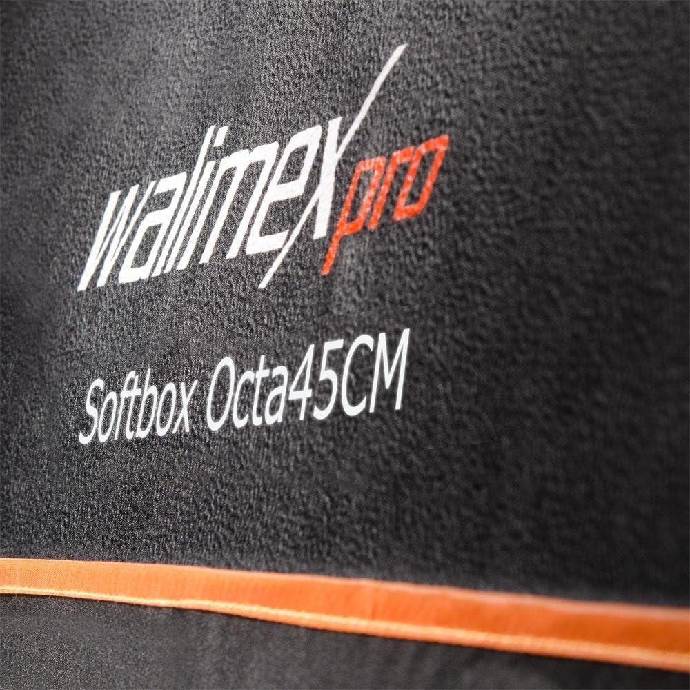 Walimex Pro Octagon Softbox Orange Line 45 cm Durchmesser f/ür Elinchrom