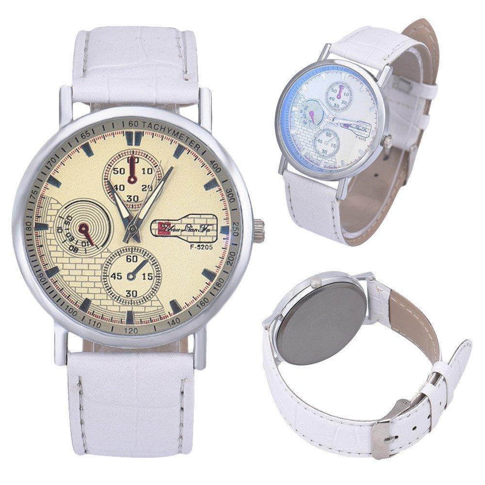 Amazon.com: Men Quartz Watch COOKI On Sale Analog Business Casual Fashion Wrist Watch Mens Cheap Leather Watch-W74 (Black): Watches