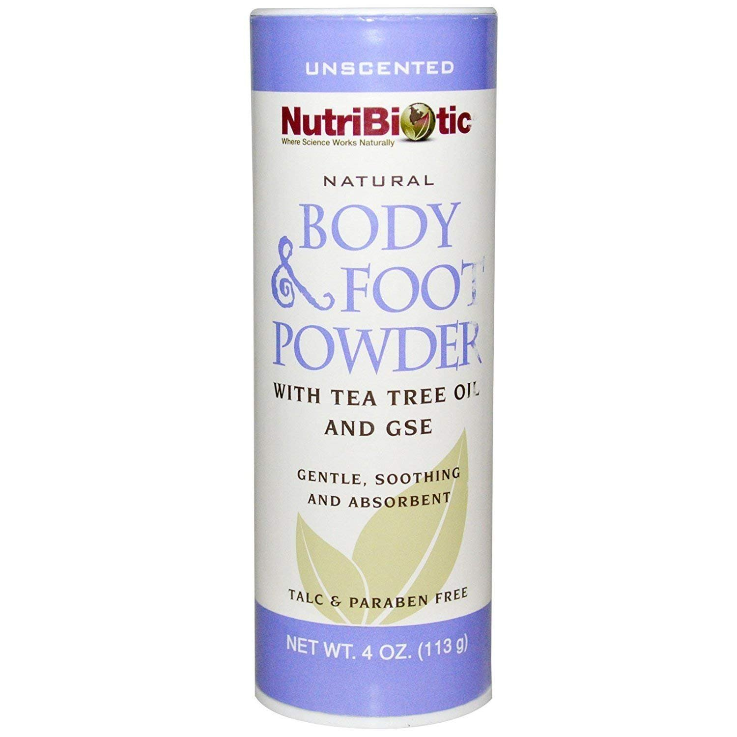 Nutribiotic Natural Body & Foot Powder Unscented, 4 Oz NBC10607