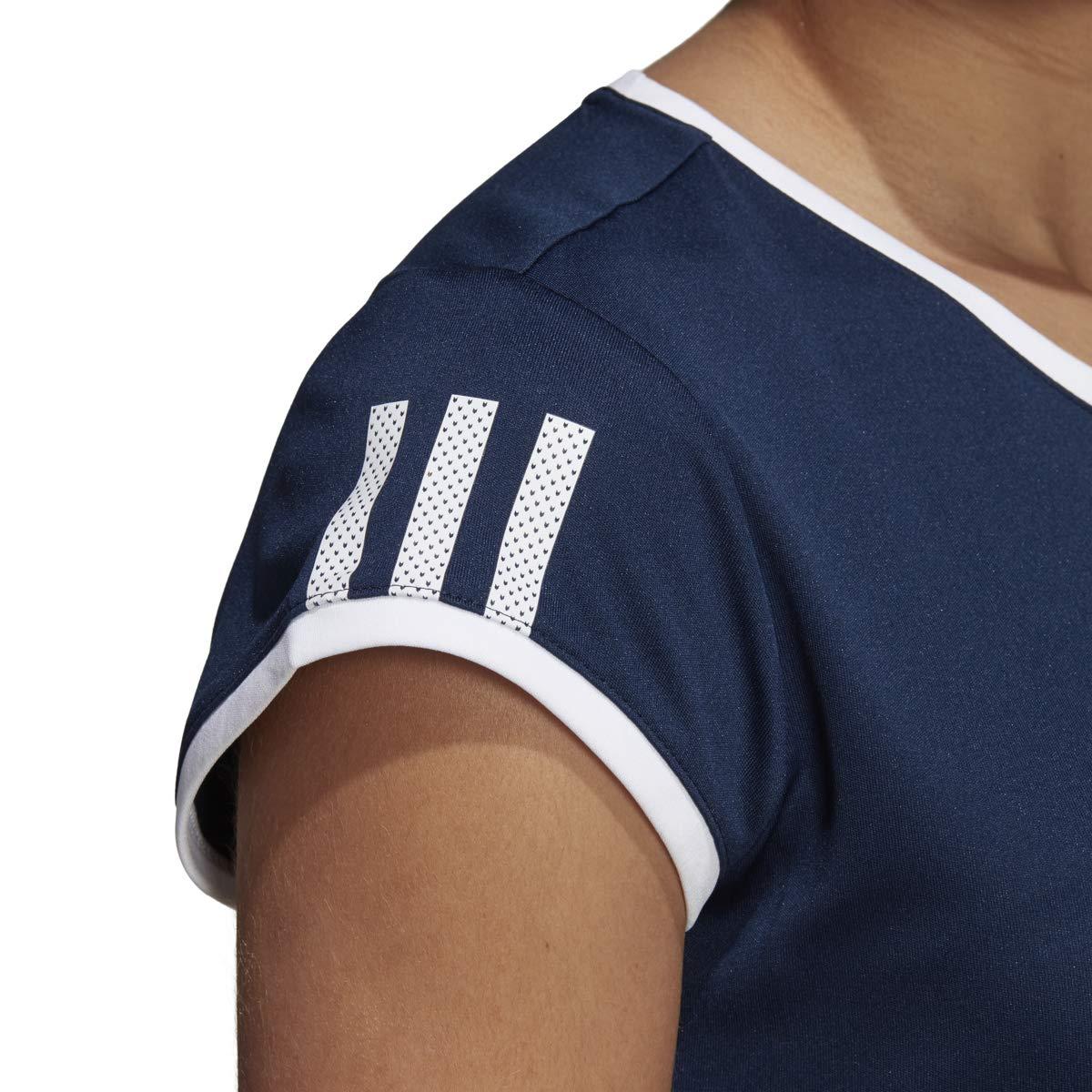 adidas Women's 3-Stripes Club Tennis Tee