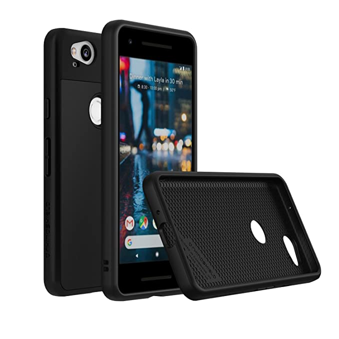 new style 02480 af7c2 RhinoShield Case for Pixel 2 [SolidSuit] | Shock Absorbent Slim Design  Protective Cover [3.5m / 11ft Drop Protection] - Classic Black
