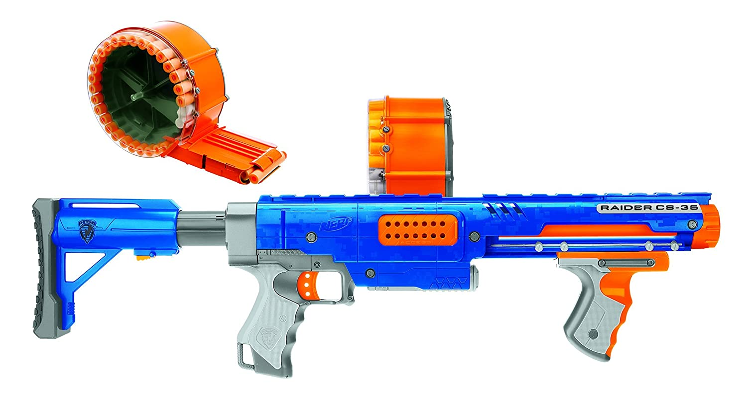Amazon.com: Nerf Raider CS-35 Dart Blaster - Value Pack with Bonus Darts  (70 Darts): Toys & Games