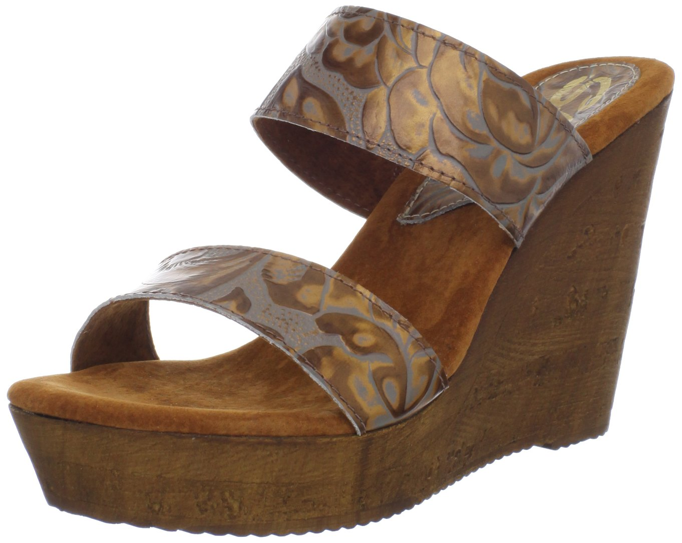 Sbicca Women's Credence Wedge Sandal B009JYYNJM 9 B(M) US|Bronze