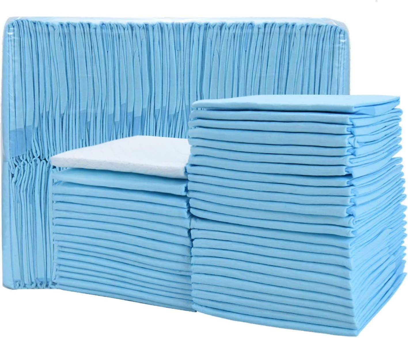 Timoo 100 PCS Disposable Changing Pad Leak-Proof Underpad Bed Table Protector Mat, Soft Non-Woven Fabric, 17 Inches x 13 Inches