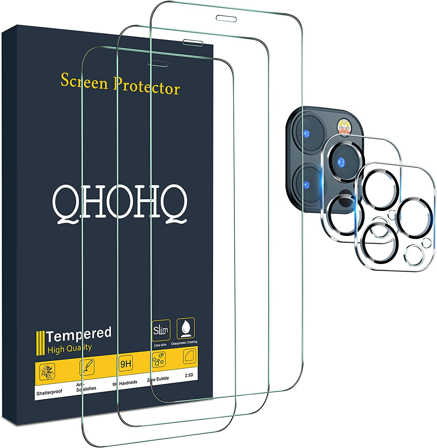 QHOHQ 3 Pack Scratch Resistant  Screen Protector $14.44 Coupon