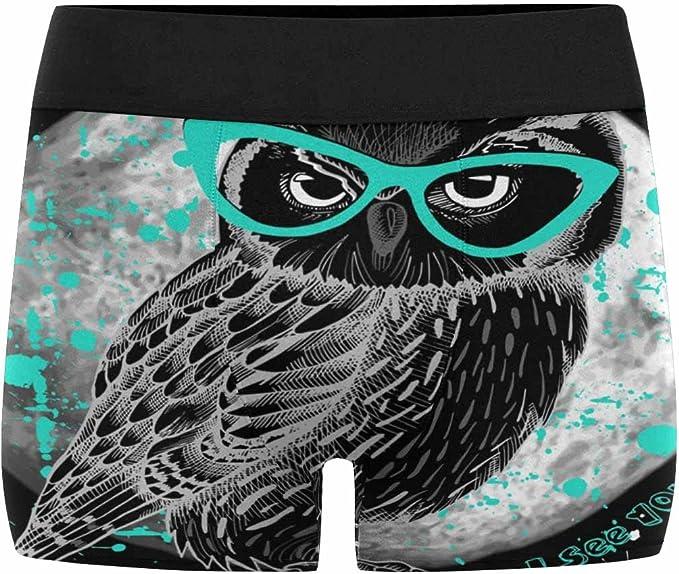 XS-3XL INTERESTPRINT Mens Boxer Briefs Underwear Birds and Owls