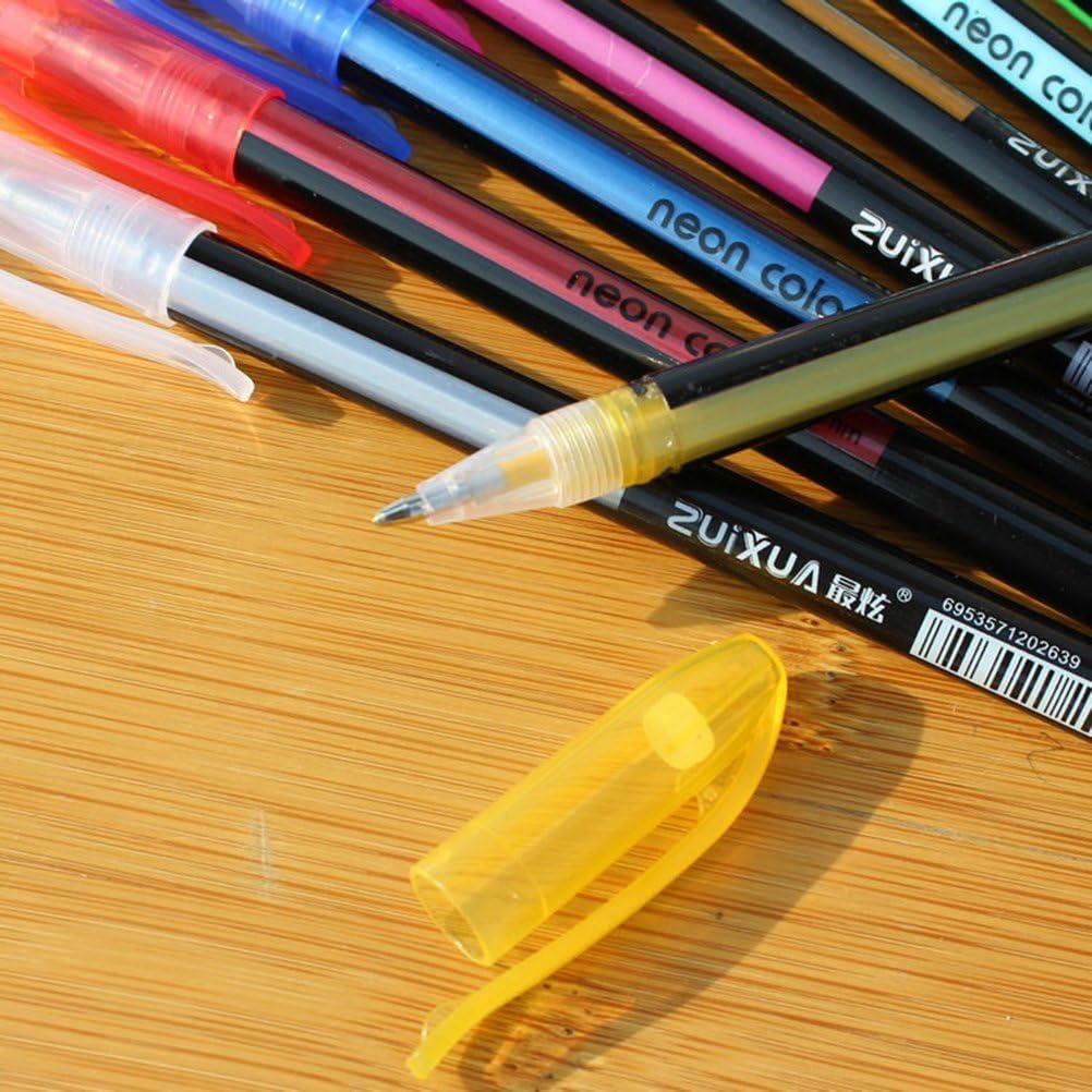 12 colores Gel Pen Color de ne/ón Conjunto de l/ápices de tinta para ni/ños Escribiendo Dibujo Pintura Colorear Craft Gift 1.0mm Color surtido