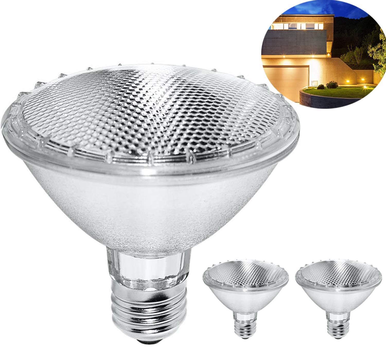 Par30 Halogen Bulb, 75W 120V Halogen Flood Light Bulbs, Premium Quality for Long Lasting Life, E26 Base, 3000K Warm White, Great for Accent Lighting, Tracking Light (2 Pack - Short Neck) by VINACO