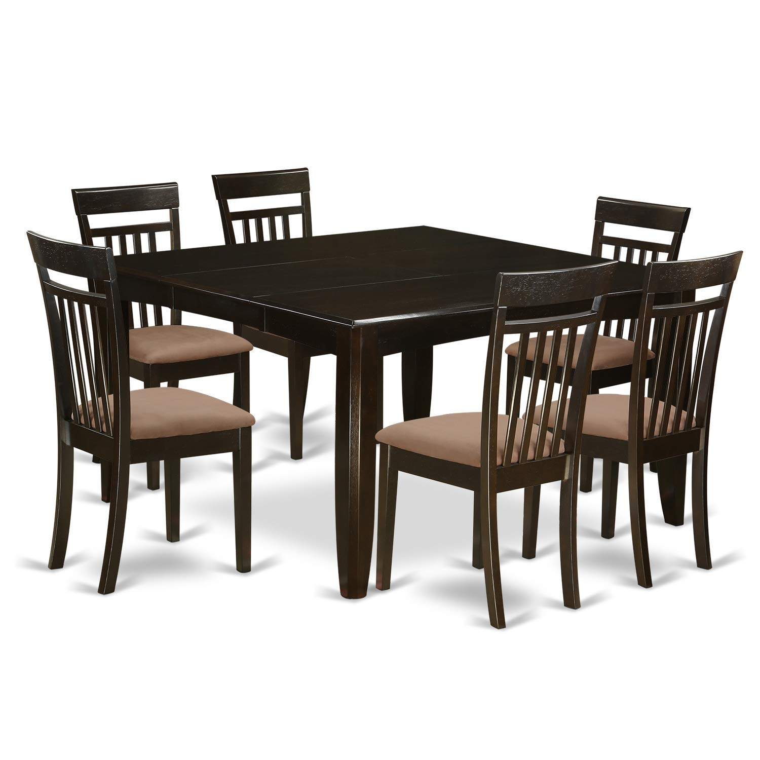 PFCA7-CAP-C 7 PC Dining room set for 6-Dinette Table with Leaf and 6 Dinette Chairs.