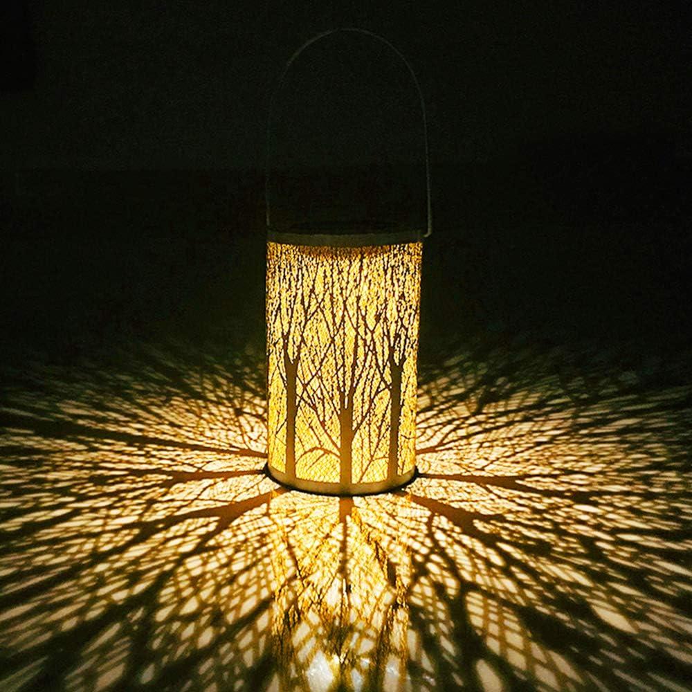 WZTO Luces de Linterna Solar, Lámpara Colgante LED Luz Solar IP44 Impermeable Apagar y Encender Automáticamente Lámparas Colgantes Luces para Camping, Jardín, Patio, Terraza, Camino (Estilo Moderno)