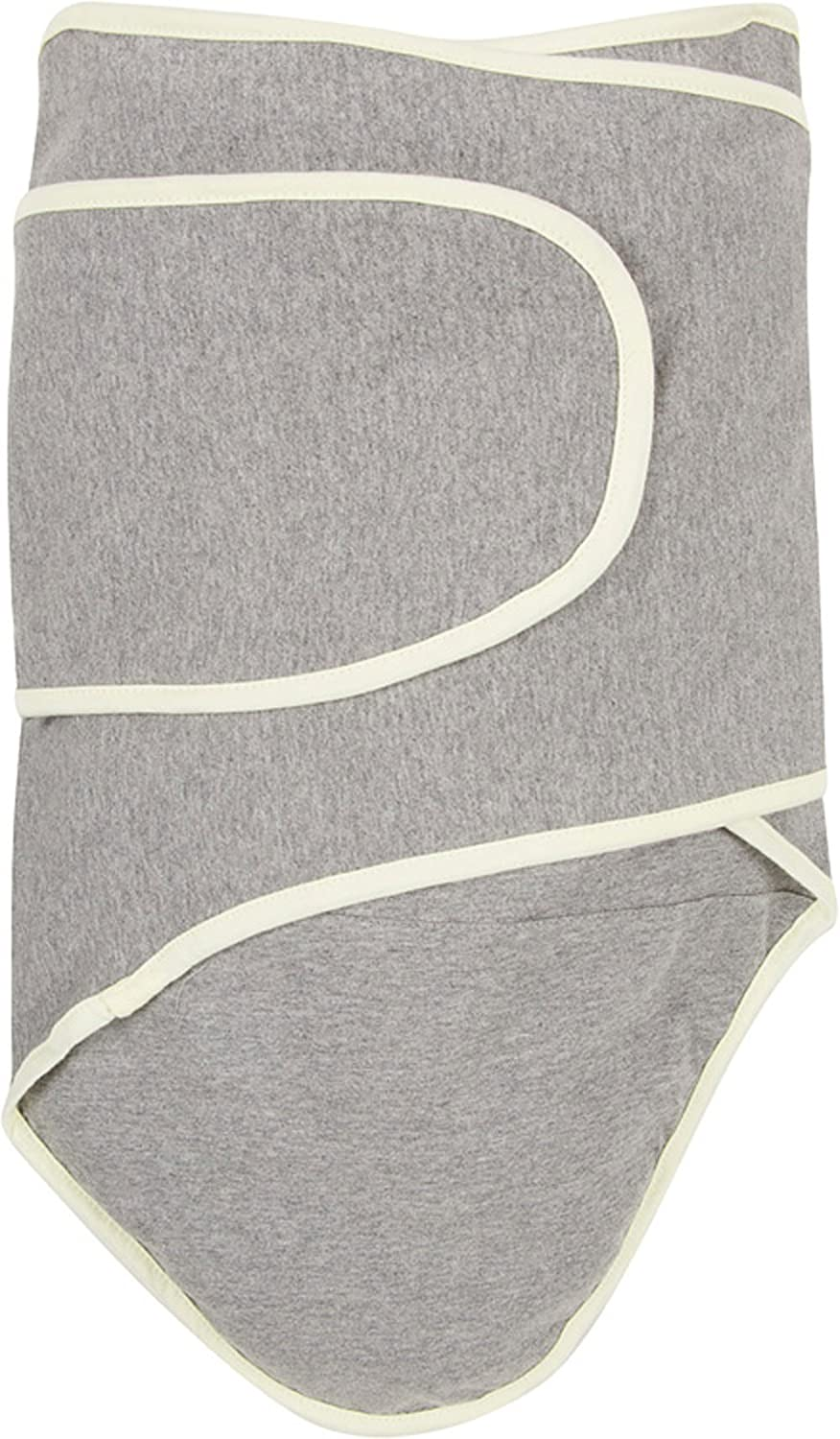 Miracle Blanket Swaddle Unisex Baby, Grey with Yellow Trim