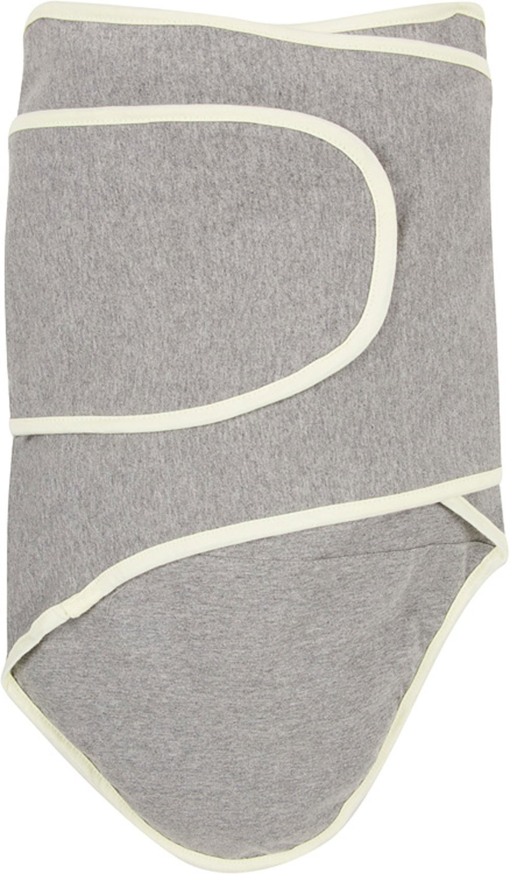 Miracle Blanket Swaddle Unisex Baby, Grey with Yellow Trim by Miracle Blanket