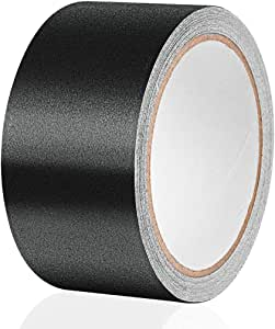 """Gaffer Tape Pro, Non Reflective Residue Free and Easy to Tear Matte Tape (2"""" Width x 390"""" Long, Black)"""