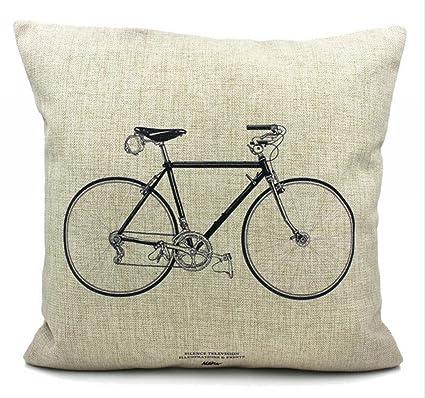 Molde cuadrado para Bromeo Cotton Linen manta para bicicleta 45,72 cm X 45,