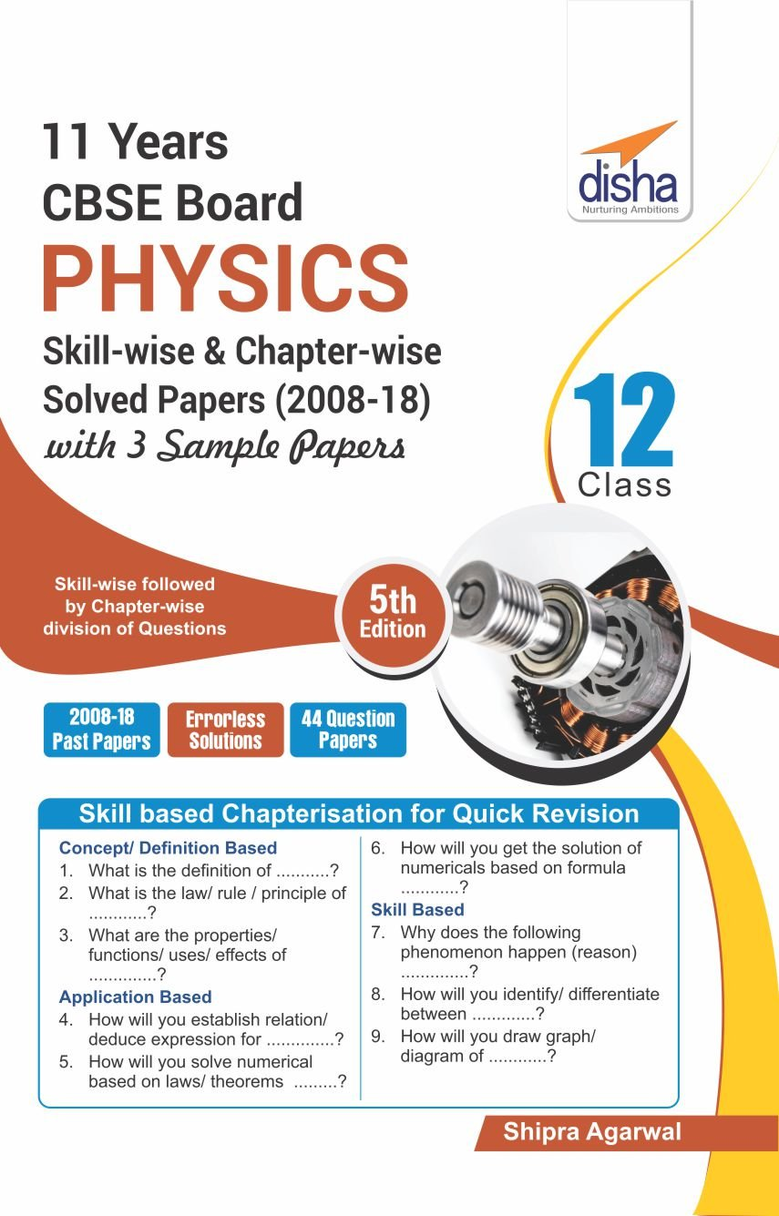 11 Years CBSE Board Class 12 Physics Skill-wise & Chapter-wise