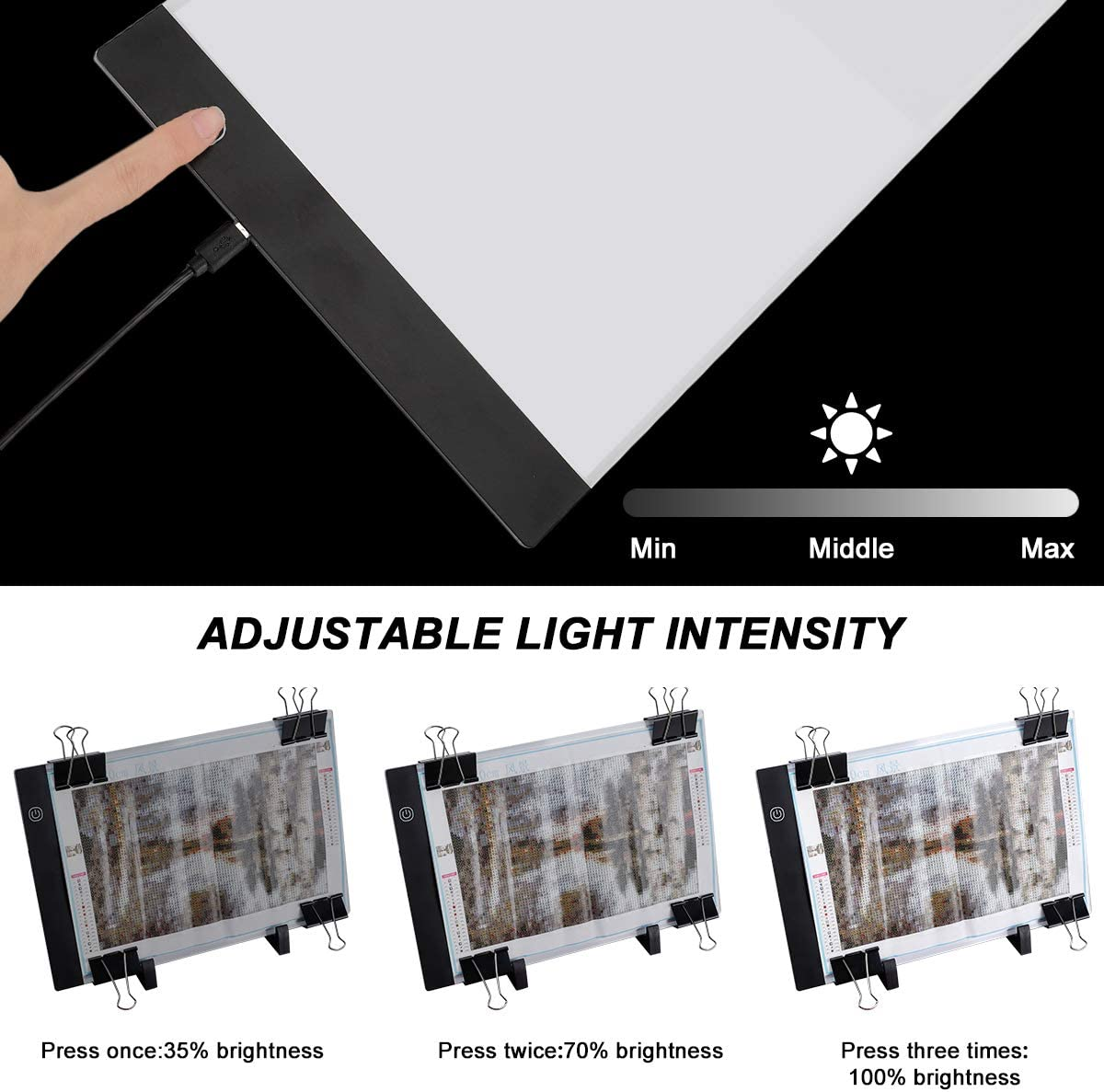 Diamond Painting A4 LED Light Pad Kit LED Artcraft Tracing Light Table Tools and Accessories Kit for Full Drill /& Partial Drill 5D Diamond Painting