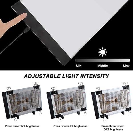 A4 LED Tracing Copy Board Dimmbar 4//11x 5DDiamant DiamondPaintingKit Roller